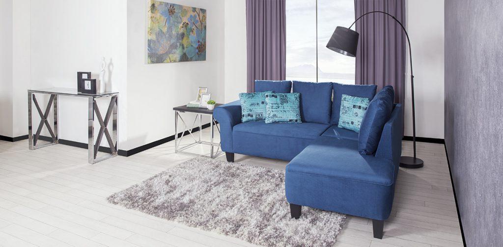 Esta sala modular cuenta con tela linda de velvet, una de las más suaves del mercado, haciendo contraste con sus costuras del mismo color. Esta característica es muy destacable ya que, básicamente te dará una ilusión de que todo el cuerpo de la sala es lizo.